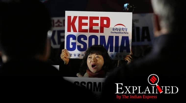 GSOMIA, GSOMIA south korea japan, south korea japan agreement, GSOMIA explained, GSOMIA indian express explained, south korea japan intelligence pact, indian express news