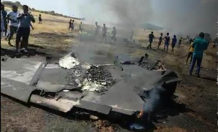 Image result for Navy's MiG-29K fighter jet crashes in Goa, pilots eject safely