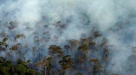 ISRO, Indian Space Research Organisation, Indian forests, indian forest fire, forest deforestation, forest fire cause, india news, indian express