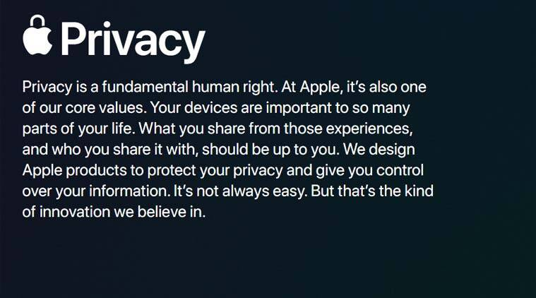Apple, Apple Privacy, Apple privacy page, Apple redesigns privacy page, Apple Privacy rules, Apple Privacy rules