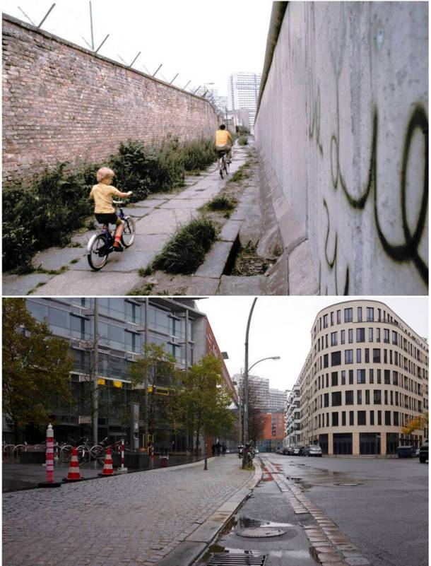 Berlin Wall Now and Then