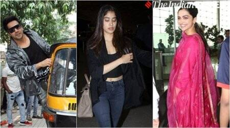 deepika padukone, janhvi kapoor, sara ali khan, varun dhawan and others spotted