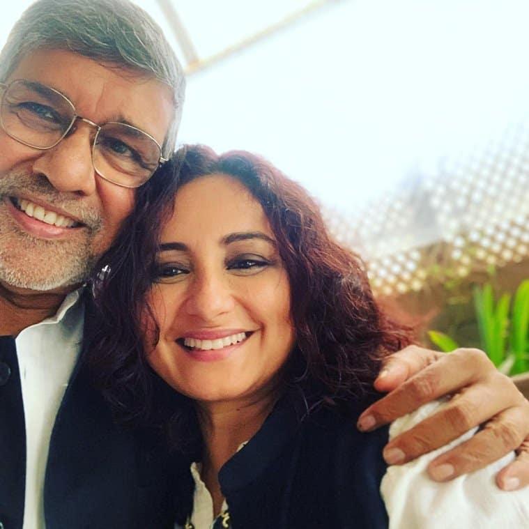Divya Dutta with Kailash Satyarthi