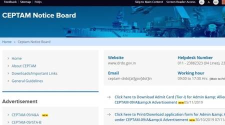 drdo.gov.in, ceptam09.com, DRDO, DRDO CEPTAM admit card, drdo ceptam hall ticket, drdo ceptam exam, drdo careers, drdo.gov.in, drdo jobs, govt jobs, defence research organisation, employment news, sarkari naukri, sarkari naukri result, indian express, indian express nes