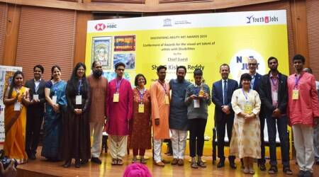 Discovering Ability Art Awards 2019, indianexpress.com, indianexpress, Paralympic Art World Cup 2019, National Abilympic Association of India, Not Just Art, Gallery for Disabled artists opens at UNESCO House,Youth4jobs, disability, disability awards, disabled artists,