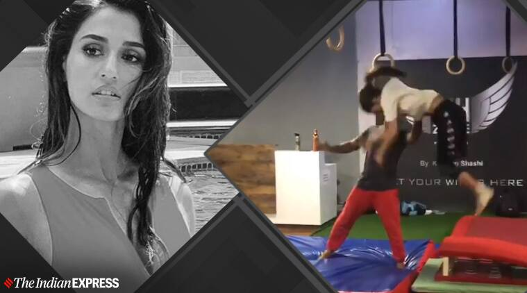 Disha Patani kong vault, Disha Patani fitness, fitness goals, Disha Patani Kong Vault Parkour, kong vault benefits, what is kong vault, advanced parkour, indianexpress, indianexpress.com, fitness goals,