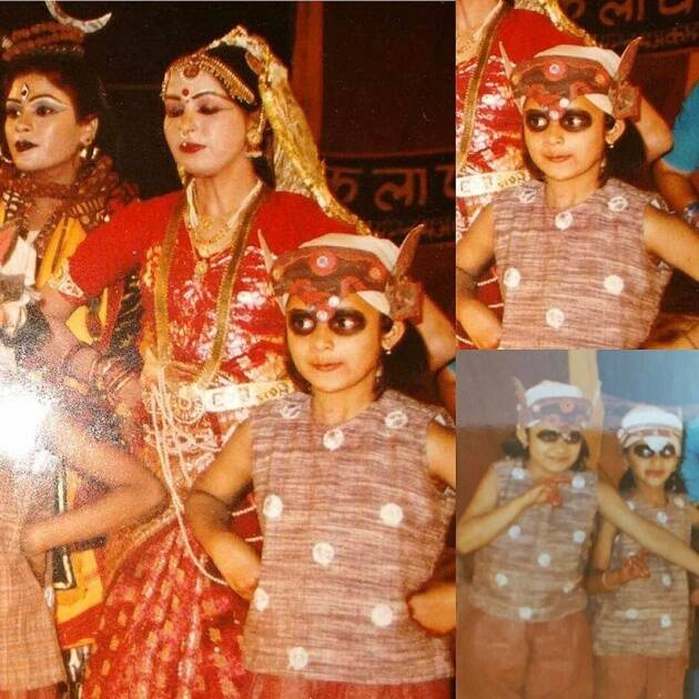 Divyanka Tripathi childhood dance photo