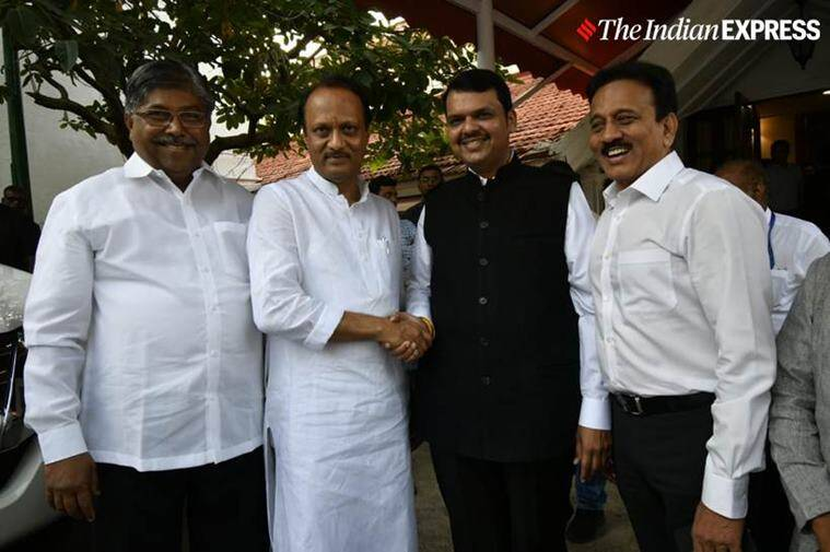 Devendra fadnavis takes oath as Maharashtra CM, Who is Maharashtra CM, BJP Maharashtra, Ajit Pawar takes oath as Deputy CM, BJP-NCP alliance, Shiv Sena-congress-NCP, India news, indian express
