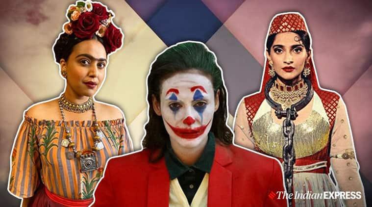 halloween looks bollywood,halloween looks, halloween looks Sonam Kapoor Anand Ahuja, halloween looks Swara Bhaskar, halloween looks Sunny Leone, indian express, lifestyle