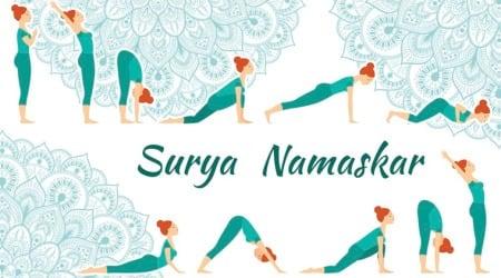 Surya Namaskar, benefits of Surya Namaskar, daily Surya Namaskar, benefits of daily Surya Namaskara, yoga, exercise, yogasana, Pranamasana, Hastauttanasana, Padahastasana, Ashwa Sanchalanasana, Parvatasana, Dandasana, Ashtanga Namaskara, Bhujangasana