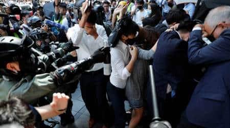 Macau photo exhibition, Hong Kong protests, Hong Kong pro-democracy protest, Macau exhibition shit, World news, Indian express