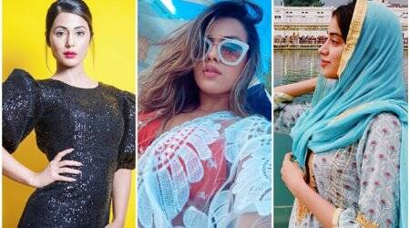 Hina Khan, Nia Sharma, Janhvi Kapoor, Celebrity social media photos