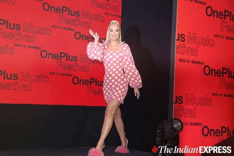 Katy Perry touches down in Mumbai ahead of concert with Jacqueline Fernandez