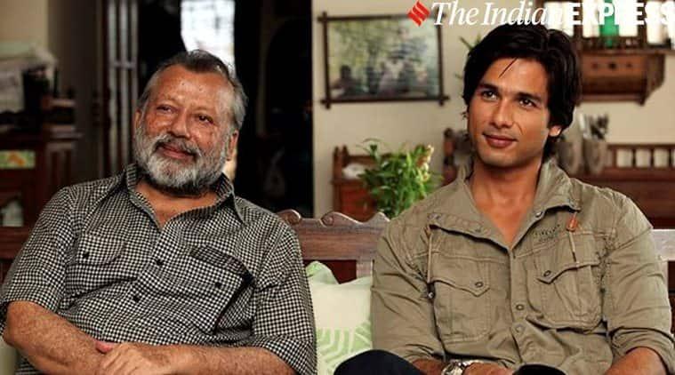 shahid kapoor with father pankaj kapur