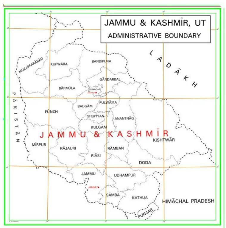 new map of india, new india map, new india political map, J&K UT, Ladakh UT