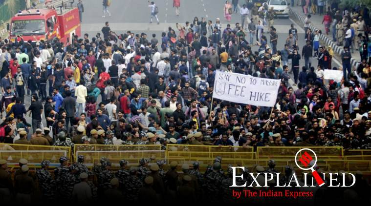 JNU protests: What is the hostel fee hike that students are protesting?