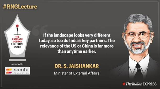 s jaishankar at RNG lecture, s jaishankar speech, external affairs minister s jaishankar, jaishankar top quotes at RNG, jaishankar on pakistan, jaishankar on kashmir,