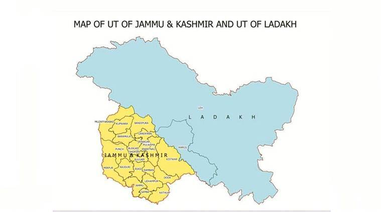 India map, new map of india, new india map, india political map, news J&K map, Ladakh map, india new map photo, indian express