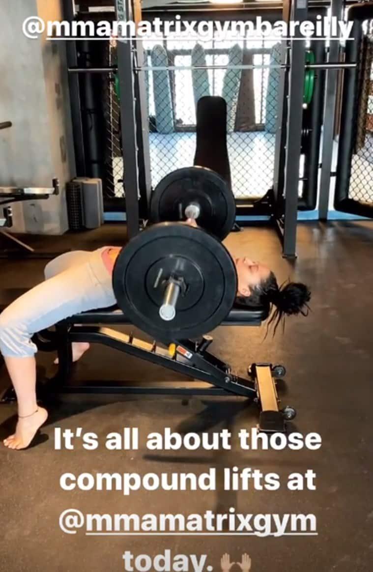 Krishna Jackie Shroff, Krishna Jackie Shroff fitness, fitness goals, indianexpress.com, indianexpress, Jackie Shroff's daughter, Tiger Shroff's sister, celeb fitness,