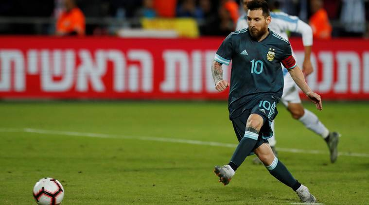 Lionel messis late penalty gives argentina 2 2 draw with uruguay
