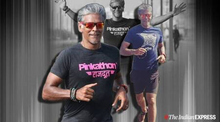 milind soman, indianexpress.com, indianexpress, milind soman fitness, fitness goals, running, milind running, ankita earthy, milind soman pinkathon, pinkathon, monday motivation, mid week motivation,