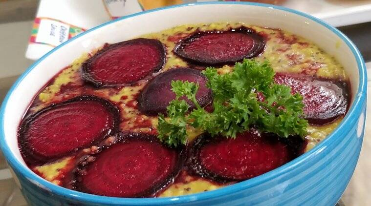 millets porridge with beetroot, health benefits of millets, benefits of beetroot, healthy recipes, delicious recipe