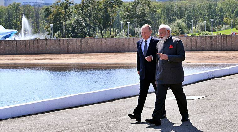 India Russia, Russia navy Indian Ocean, Modi Putin, Russia Sri Lanka relations, Russian Navy Sri Lanka, Russia's influence in Indian ocean, indian express news