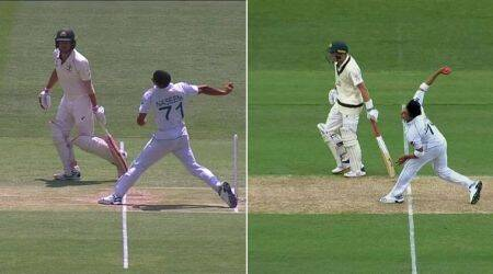 Musa Khan Naseem Shah no ball, Musa Khan no ball, Musa Khan david Warner no-ball, Musa Khan and Naseem Shah, Naseem Shah and Musa Khan no ball, Pakistan vs Australia, DAvid warner no ball