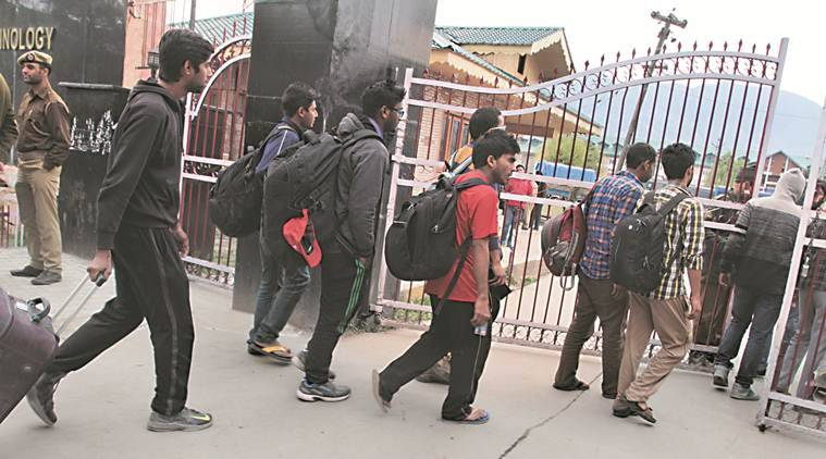 Kashmir internet, J&K lockdown, Kashmir clampdown, Kashmir education, NIT Srinagar, B Tech, NIT, NIT student, NIT exams, Indian Express
