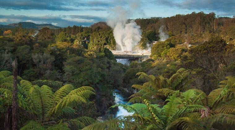 New Zealand, Rotorua town, Pohutu, the southern hemisphere, largest active geyser in the world, supervolcano, Whakarewarewa Geothermal valley, America's Yellowstone National Park, Papua New Guinea, New Zealand, travel diaries, sundayEYE, EYE 2019, indianexpress,