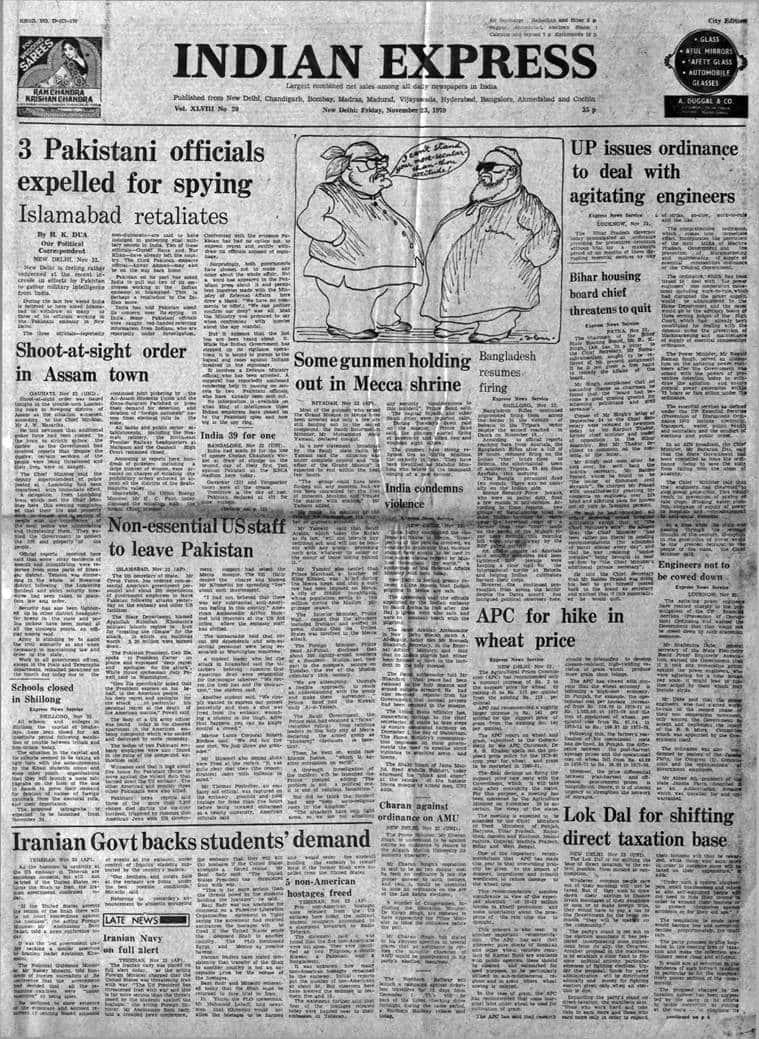 India Pakistan intelligence, India Pakistan spy, Gustaf Rana Nur Khan Pakistan, JN Hazarika, Mecca seige, indian express archives