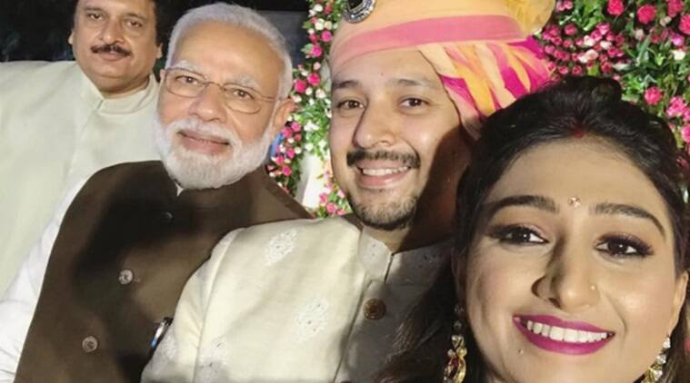 PM Narendra Modi graced Mohena Kumari Singh Delhi wedding reception photo