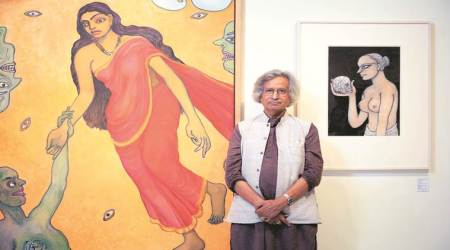 Jogen Chowdhury, art, art exhibition, Eye 2019, Sunday Eye, Indian Express, Indian Express news