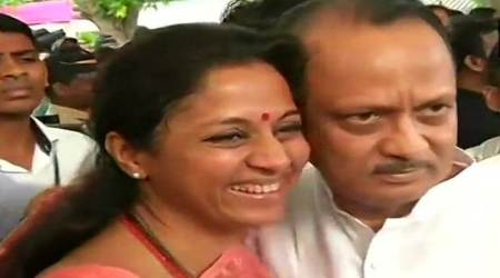 Maharashtra govt formation LIVE updates: Ahead of oath-taking, welcome hug for Ajit Pawar
