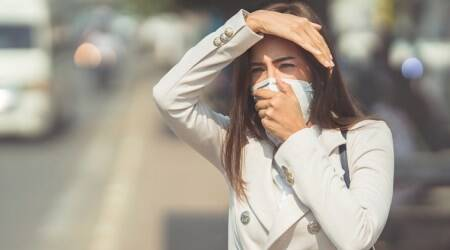 public health emergency, indianexpress.com, indianexpress, air pollution, smog, pollution delhi, hazy weather, types of masks, aiir masks, N-99, N-95 mask, air quality index, poor health, breathing problems,