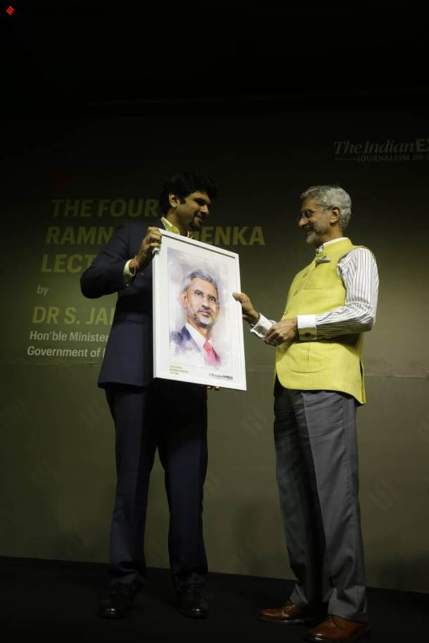 rng memorial lecture, ramnath goenka memorial lecture, s jaishankar, fourth rng lecture, rng lecture, minister of external affairs, indian express memorial lecture, s jaishankar speech, the indian express