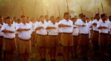 RSS meet in Telangana, RSS march in hyderabad, hyderabad news, indian express, rss rally in hyderabad today