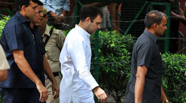 Rahul Gandhi security, Gandhi family security, SPG cover Rahul Gandhi, SPG cover Rahul Gandhi, Gandhi family CRPF security, Indian Express