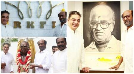 Rajinikanth, Mani Ratnam inauguration of Raaj Kamal Films International new office