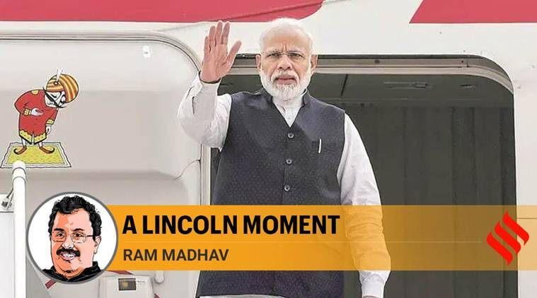 Prime Minister narendra modi, ram madhav on modi, kashmir, article 370 news, bjp modi, abraham lincoln, modi-lincoln, indian express opinions