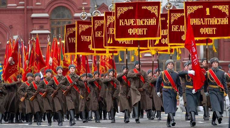 Russia re enacts legendary world war ii parade in moscow