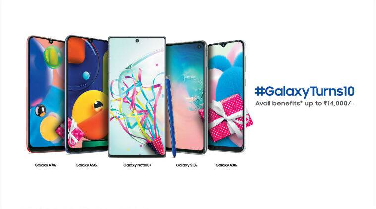 Samsung, Samsung Galaxy 10 year sale, Samsung Galaxy 10th Anniversary sale, Galaxy Note 10, Galaxy S10, Galaxy A70s