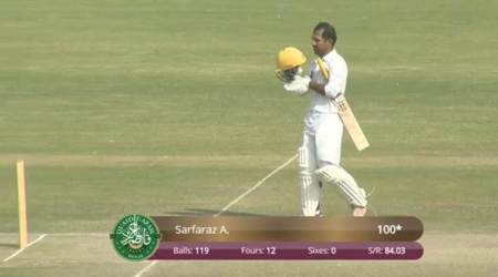 Watch: Sarfaraz Ahmed scores first-class century after five years