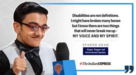 sparsh shah, life positive, indianexpress.com, indianexpress, disability, people with disability, sparsh shah rapper, music sparsh shah,