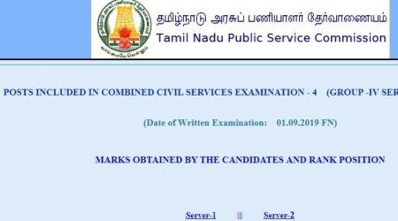 tnpsc.gov.in, TNPSC, tnpsc results, tnpsc group IV results, tnpsc gorup 4 result 2019, tnpsc group 4 recruitment 2019, tnpsc.gov.in, Tamil Nadu Public Service Commission, govt jobs, sarkari naukri, sarkari naukri result, employment news, indian express, indian express news