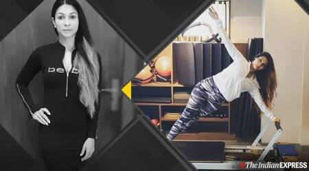 tanishaa mukherji, tanishaa mukherji sister, kajol sister, yoga, pilates, indianexpress, indianexpress.com, fitness goals, how to recover after injury,