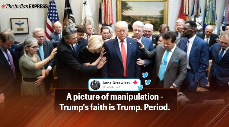 Photo of Donald Trump's meet with religious leaders ahead of impeachment proceeding goes viral