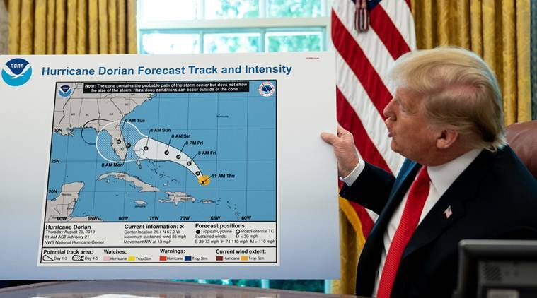 Hurricane tweet that angered Trump wasn't about Trump, forecasters say