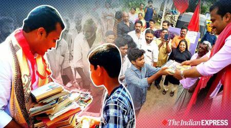 Kerala MLA tells people to greet him with books and not flowers, Vattiyoorkavu, Vattiyoorkavu constituency, Kerala News, Trending, Indian Express news