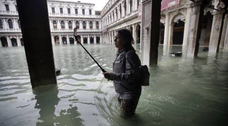 Venice floods, Venice high tide, Venice news, Venice flood, flood in Venice, Indian Express world news